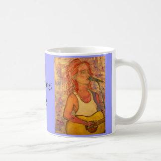 poetic lyrics & song girl art classic white coffee mug