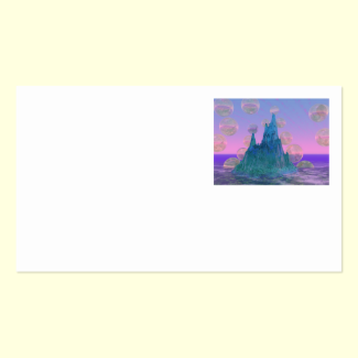 Poetic Mountain, Abstract Magic Teal Pink Double-Sided Standard Business Cards (Pack Of 100)