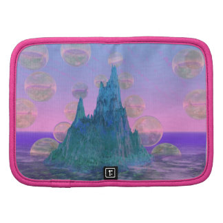 Poetic Mountain Abstract Magic Teal Pink Organizers