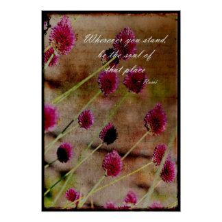 Poetic Pink Floral Poster