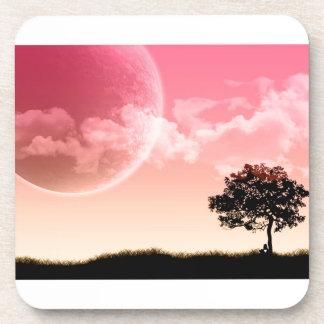 Poetic Pink Sun Beverage Coaster