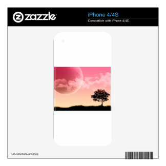 Poetic Pink Sun Skin For iPhone 4S