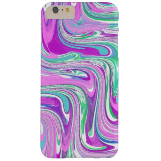 Poetic Purple Swirl Abstract Barely There iPhone 6 Plus Case