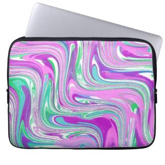 Poetic Purple Swirl Abstract Computer Sleeve