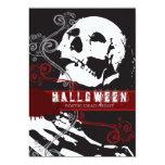 """Poetic Skeleton Custom Halloween Invitation 5"""" X 7"""" Invitation Card"""