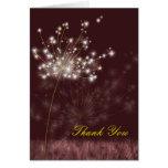 Poetic Twilight Dandelions Wedding Thank You Cards