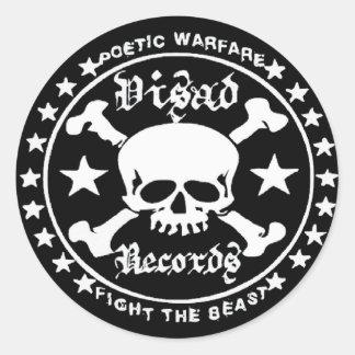 Poetic Warfare II Classic Round Sticker