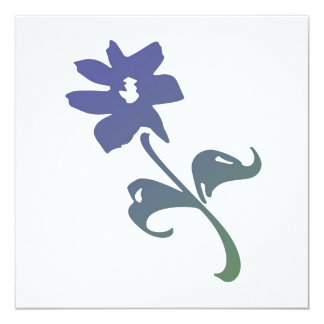 Poetica Blue Flower Card