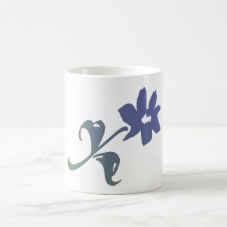 Poetica Blue Flower Coffee Mug