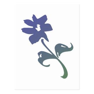 Poetica Blue Flower Postcard