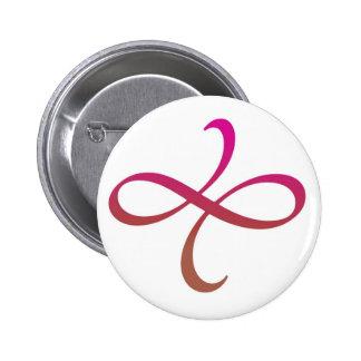 Poetica Flourish (pink-red-orange) Pinback Button