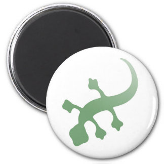 Poetica Gecko in Green 2 Inch Round Magnet