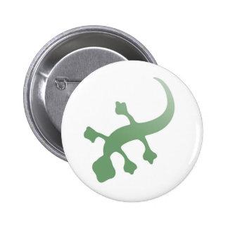 Poetica Gecko in Green Button