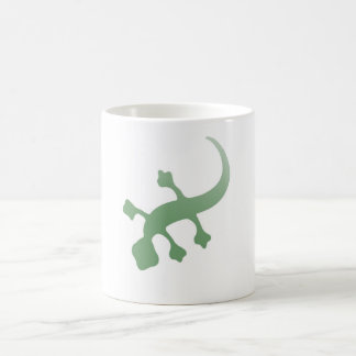 Poetica Gecko in Green Coffee Mug