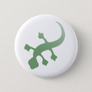 Poetica Gecko in Green Pinback Button