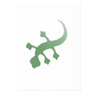 Poetica Gecko in Green Postcard