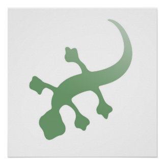 Poetica Gecko in Green Poster