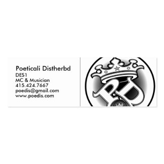 Poeticali Distherbd, MC Card Double-Sided Mini Business Cards (Pack Of 20)