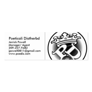 Poeticali Distherbd, MC Card - Cus... - Customized Double-Sided Mini Business Cards (Pack Of 20)