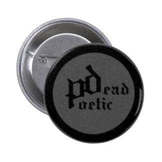 poético muerto (banda) pin redondo 5 cm