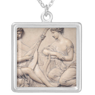 Poetry and Music Silver Plated Necklace