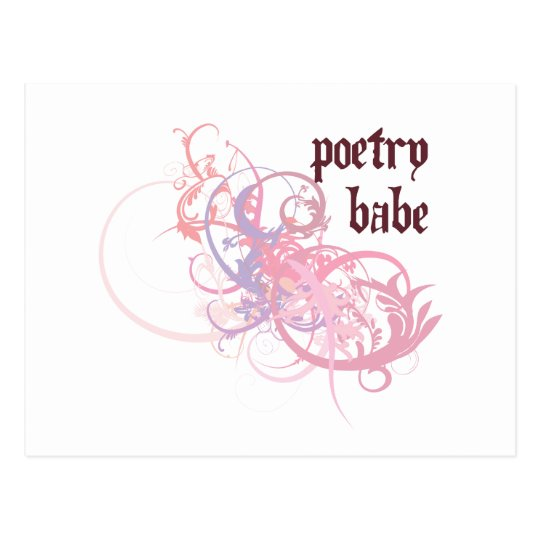 Poetry Babe Postcard