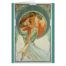 Poetry by Alfons Mucha - Art Nouveau Card
