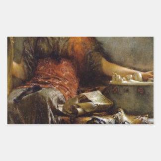 Poetry by Sir Lawrence Alma-Tadema Rectangular Sticker