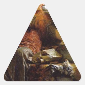 Poetry by Sir Lawrence Alma-Tadema Triangle Sticker