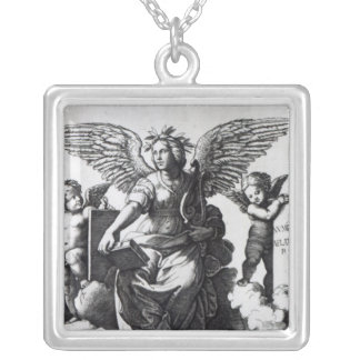 Poetry, c.1515 silver plated necklace