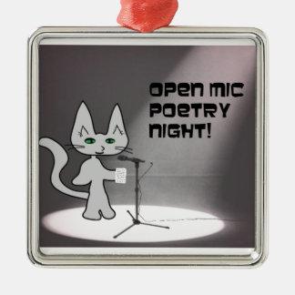 Poetry Cat Christmas Tree Ornament