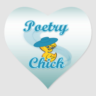 Poetry Chick #3 Heart Sticker