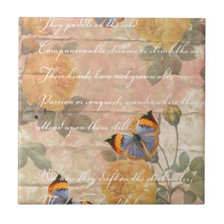 Poetry Collage Ceramic Tile