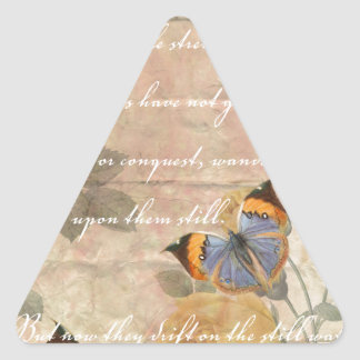 Poetry Collage Triangle Sticker