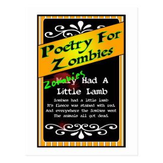 Poetry for Zombies Postcard