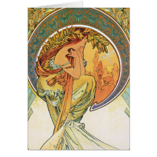 """POETRY from the series """"The Arts"""" by Mucha Card"""