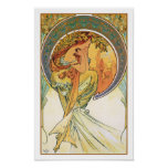 """POETRY from the series """"The Arts"""" by Mucha Posters"""