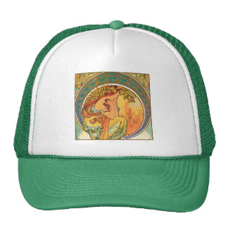"""POETRY from the series """"The Arts"""" by Mucha Trucker Hat"""