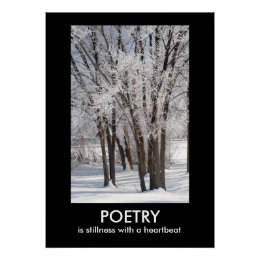 POETRY Inspirational Nature Photo Poster