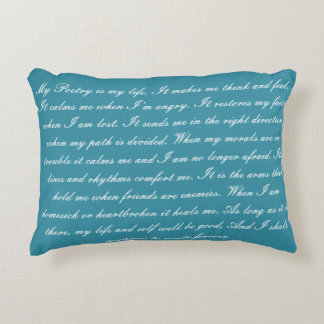 Poetry is My Life Decorative Pillow