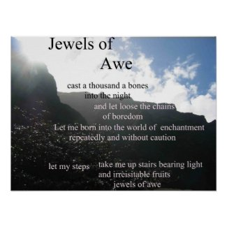poetry - Jewels of Awe poster print