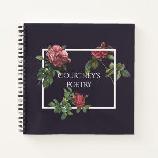 Poetry Journal Vintage Roses