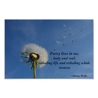 """""""Poetry Lives in Me"""" wall art"""