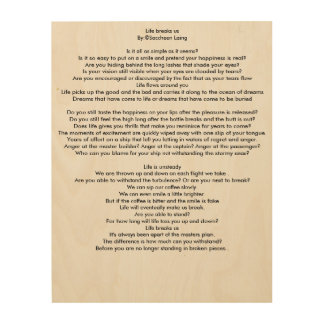 Poetry Meditation Wood Print
