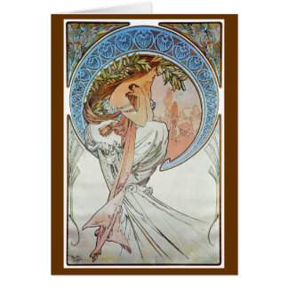 Poetry, Mucha Greeting Cards