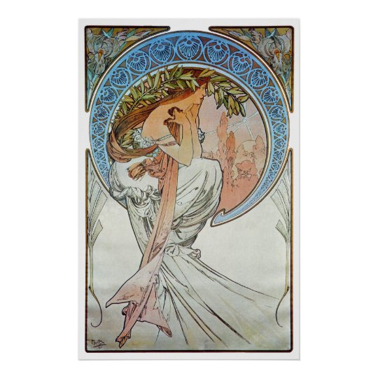 Poetry, Mucha Poster