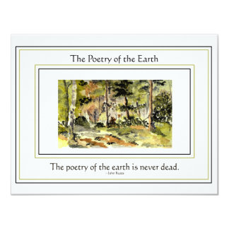 Poetry of the Earth Invitation