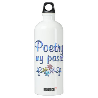 Poetry Passion Aluminum Water Bottle