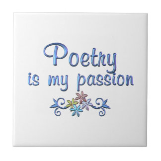 Poetry Passion Small Square Tile