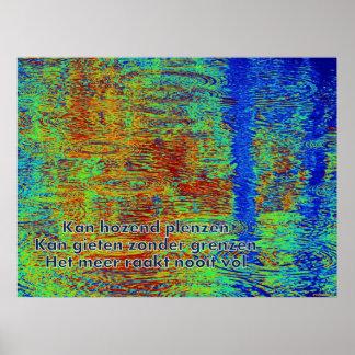 poetry poster Meer'